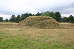 The burial barrow at Sutton Hoo in Suffolk