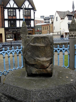 The surviving King's Stone in Surrey